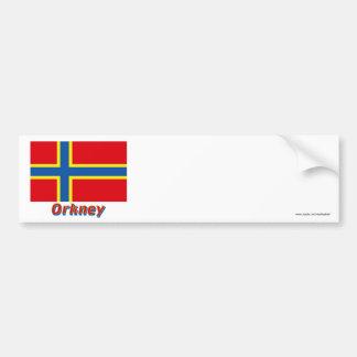 Bandeira de Orkney com nome Adesivo Para Carro
