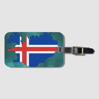 Bandeira de país de Islândia Etiqueta De Bagagem