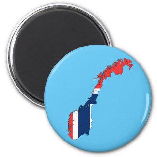 Bandeira de país de Noruega Ímã Redondo 5.08cm