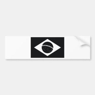 Bandeira de país preta de Brasil Adesivo Para Carro