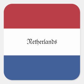 Bandeira de Países Baixos Adesivo Quadrado