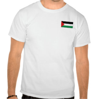 Bandeira de Palestina e t-shirt do mapa