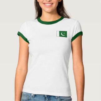 Bandeira de Paquistão + T-shirt do mapa