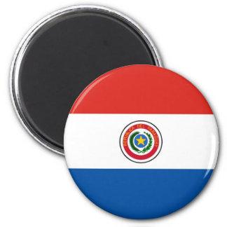 Bandeira de Paraguai Ímã Redondo 5.08cm