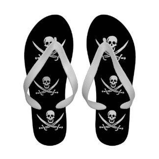 Bandeira de pirata alegre de Roger Chinelos