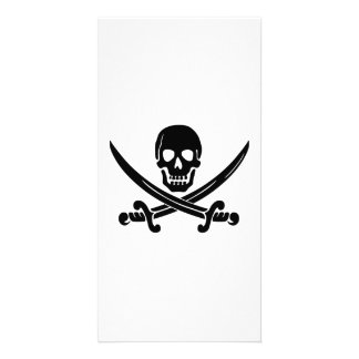 Bandeira de pirata cartão com foto