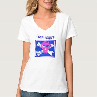 Bandeira de pirata do crânio do PIRATA do LAGO, - Tshirts