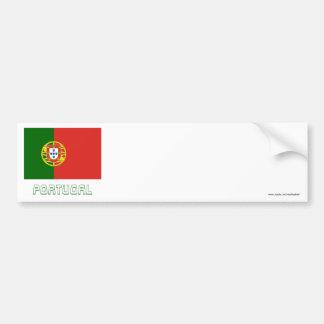 Bandeira de Portugal com nome Adesivo Para Carro