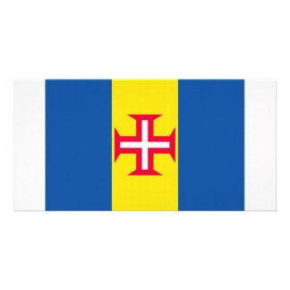 Bandeira de Portugal Madeira Cartão Com Foto