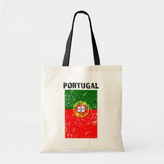 Bandeira de Portugal - sacola afligida Bolsa Tote