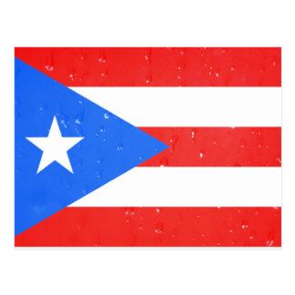 Bandeira de Puerto Rico com cartão dos pingos de