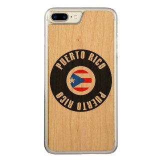 Bandeira de Puerto Rico simples Capa iPhone 7 Plus Carved