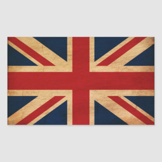 Bandeira de Reino Unido Adesivos Retangulares