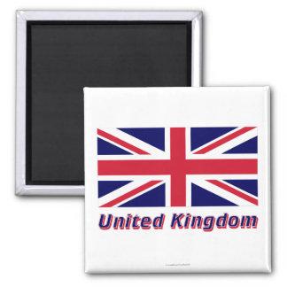 Bandeira de Reino Unido com nome Imas De Geladeira