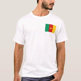 Bandeira de República dos Camarões e t-shirt do