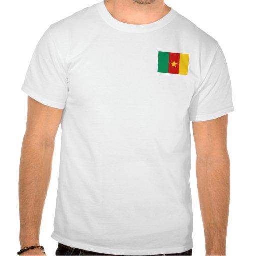 Bandeira de República dos Camarões e t-shirt do ma