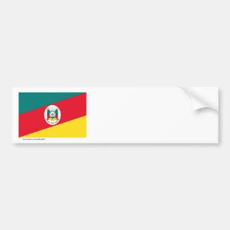 Bandeira de Rio Grande do Sul, Brasil Adesivo Para Carro