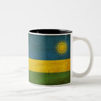 Bandeira de Rwanda Caneca De Café Em Dois Tons