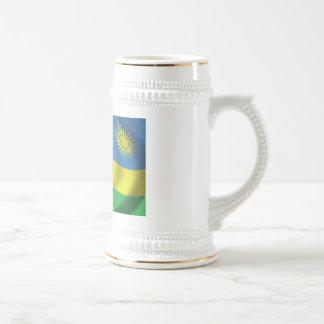 Bandeira de Rwanda Caneca De Cerveja