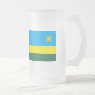 Bandeira de Rwanda Caneca De Cerveja Vidro Jateado
