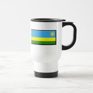 Bandeira de Rwanda Caneca Térmica