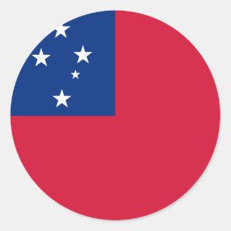 Bandeira de Samoa Adesivo Redondo