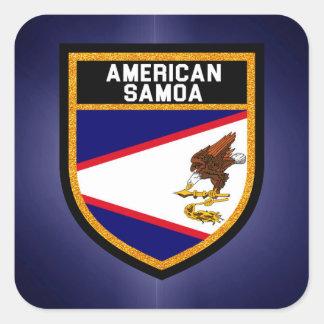Bandeira de Samoa Americanas Adesivo Quadrado
