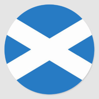 Bandeira de Scotland ou de Saltire Adesivo Redondo