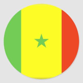 Bandeira de Senegal Adesivo