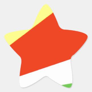 Bandeira de Seychelles Adesivo Em Forma De Estrela