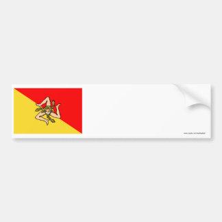 Bandeira de Sicilia Adesivos