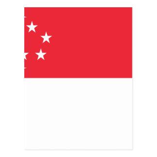 Bandeira de Singapore - 新加坡国旗 - Bendera Singapura Cartão Postal
