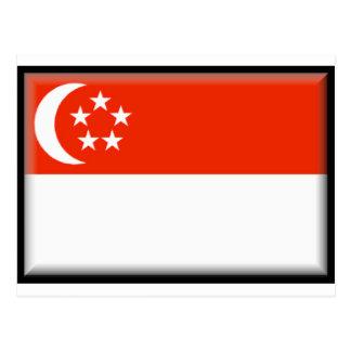 Bandeira de Singapore Cartão Postal