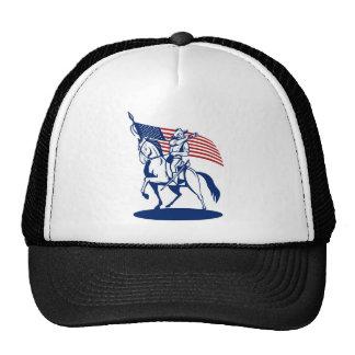 bandeira de sopro do cornetim do soldado americano bones