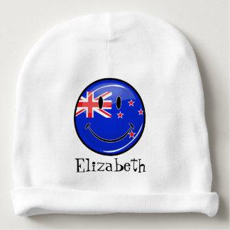 Bandeira de sorriso de Nova Zelândia Gorro Para Bebê