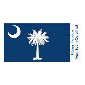 Bandeira de South Carolina, boas festas dos EUA Cartão Com Foto