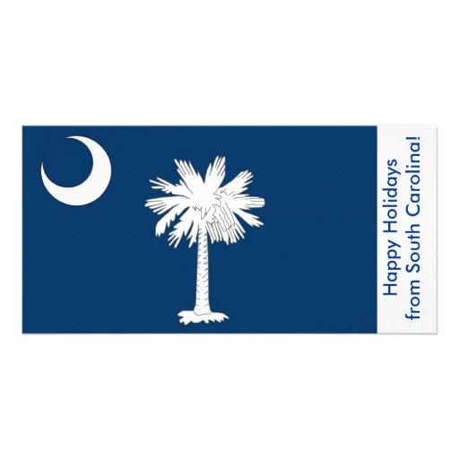 Bandeira de South Carolina, boas festas dos EUA Cartoes Com Foto