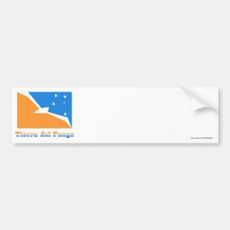 Bandeira de Terra do Fogo com nome Adesivo Para Carro