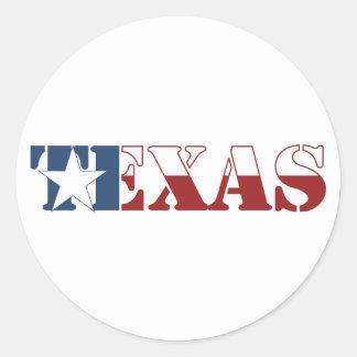 Bandeira de Texas Adesivos Em Formato Redondos