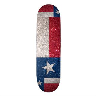 Bandeira de Texas do brilho do falso Shape De Skate 18,1cm