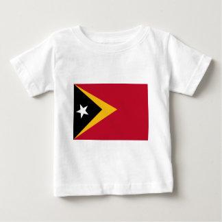 Bandeira de Timor-Leste Camiseta Para Bebê