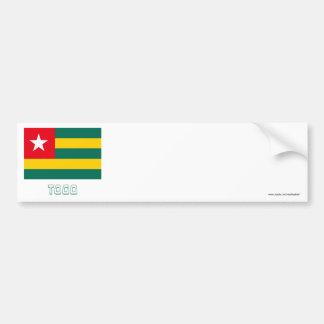 Bandeira de Togo com nome Adesivo