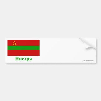 Bandeira de Transnistria com nome em Moldovan Adesivo Para Carro