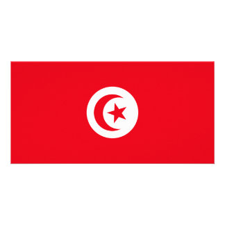 Bandeira de Tunísia Cartão Com Foto