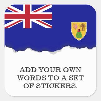 Bandeira de Turks and Caicos Islands Adesivo Quadrado