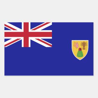 Bandeira de Turks and Caicos Islands Adesivo Retangular