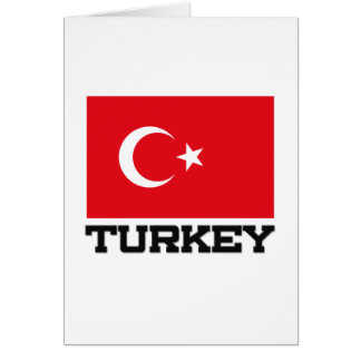 Bandeira de Turquia Cartões