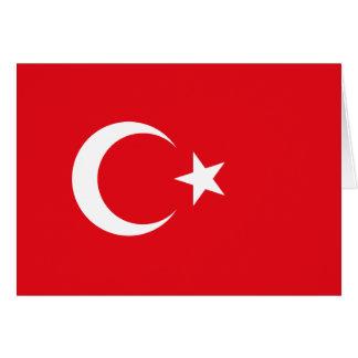 Bandeira de Turquia Cartão De Nota