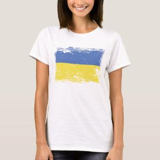 Bandeira de Ucrânia do Grunge Camiseta