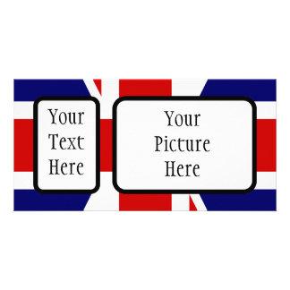Bandeira de união cartão com foto